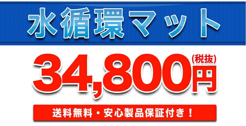 水循環マット34,800円送料無料 安心製品保証付き!
