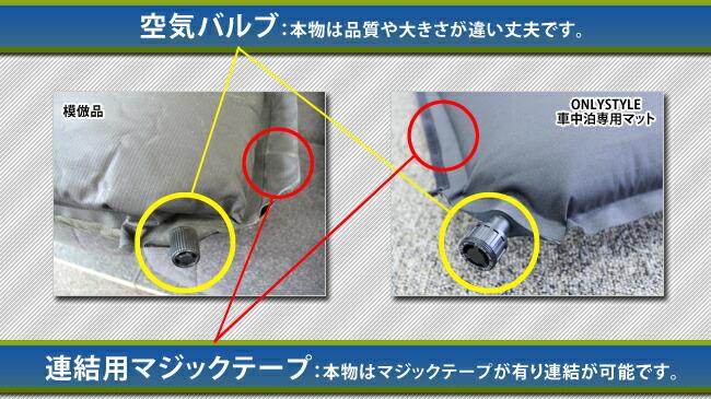 空気バルブ:本物は品質や大きさが違い丈夫です。連結用マジックテープ:本物はマジックテープが有り連結が可能です。