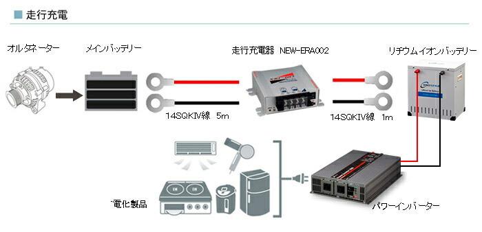 走行充電時の接続イメージ