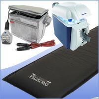ポータブル電源パワーバッグスリム(PBS-20EX・PBS-33EX)充電器セット+車中泊専用マット+保温保冷庫セット