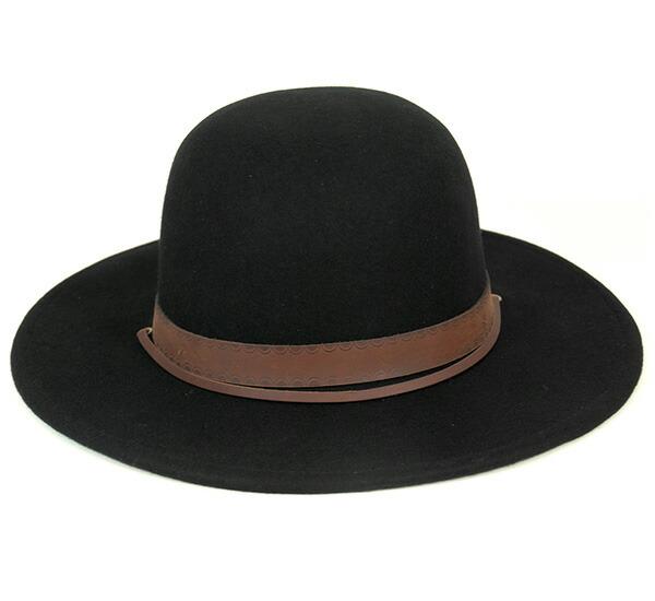 db04aaaad4dfb get brixton felt hat deadwood black afaa5 273a0