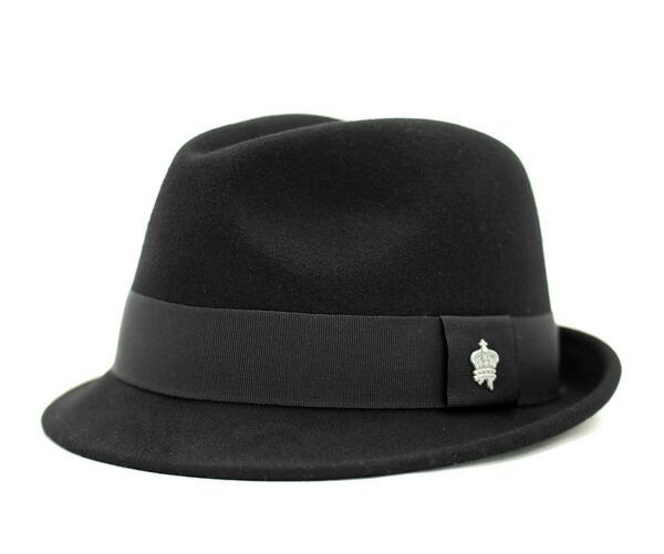 帽子完_onspotz|日本樂天市場:佳士得冠軟呢帽帽子黑色CHRISTYS皇冠帽子
