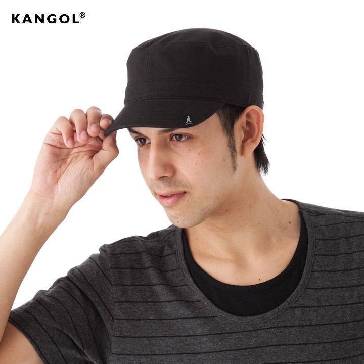 KANGOL Cap cotton adjustable army Cap Cap Black KANGOL COTTON ADJUSTABLE  ARMY CAP BLACK #CP: W