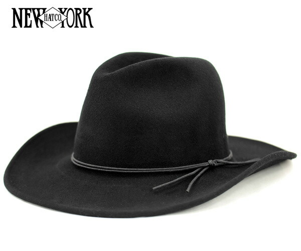 onspotz  New York Hat rough rider slouch Black Hat NEW YORK HAT ... abef89627d78