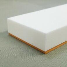 仕上げバッカー 白+オレンジ 50mm×20mm ゴム部分2mm  長さ1000mm