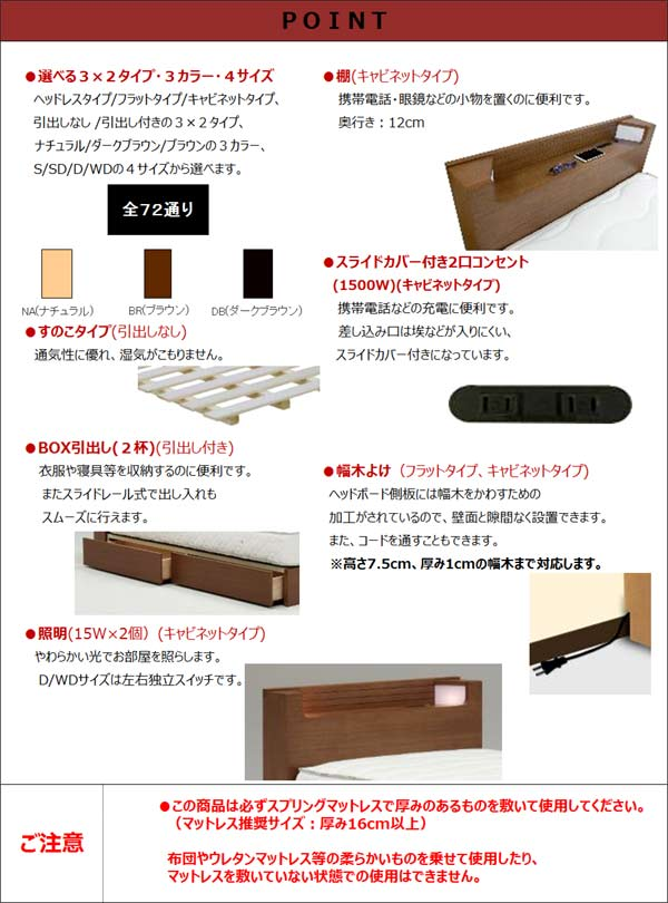 ベッド すのこベッド ダブルベッド ベッドフレームのみ 北欧モダン 木製