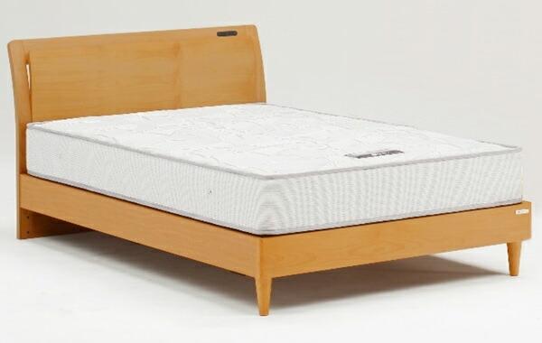 ベッド セミダブルベッド ローベッド 2段階高さ調節 フレームのみ 北欧モダン コンセント付き