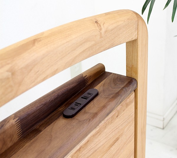 セミダブルベッド マットレス付き ボンネルコイル すのこベッド 木製