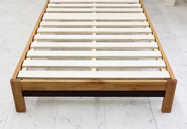 ベッド ダブル マットレス付き すのこベッド 木製 ポケットコイル