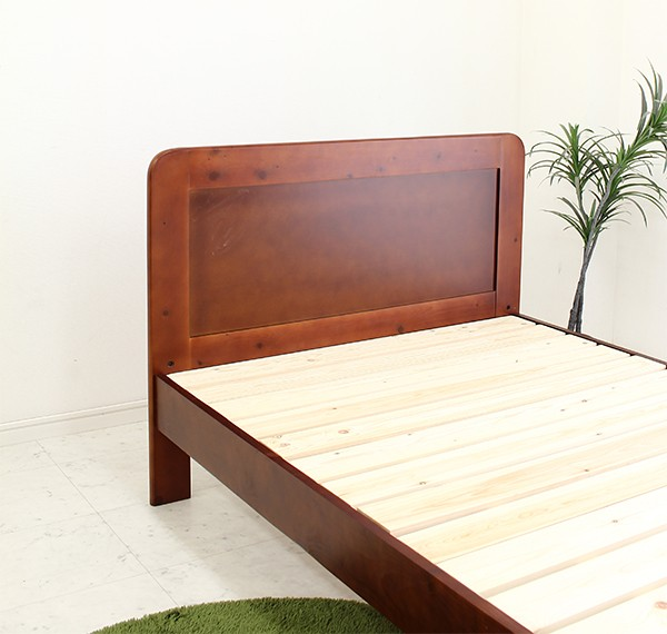 ベッド シングル すのこベッド フレームのみ 木製 カントリー調