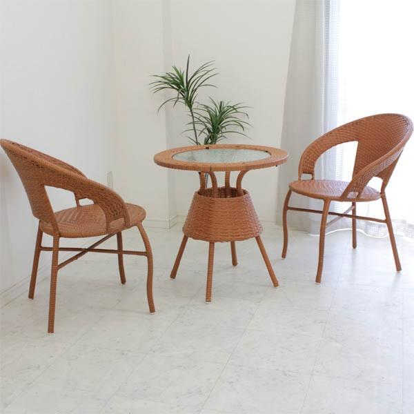 ガーデンテーブルセット 3点セット