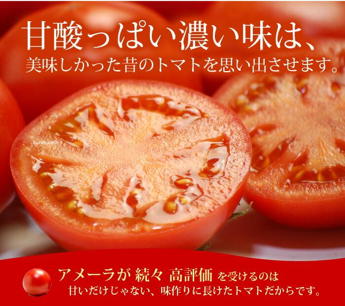アメーラトマトは味が自慢