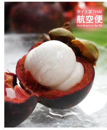 みずみずしい生マンゴスチンの白い果肉