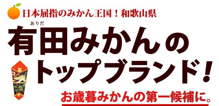 有田みかんのトップブランド