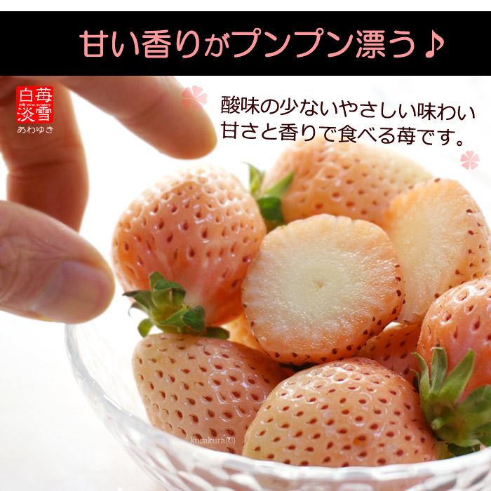 淡雪はやさしく上品な白イチゴ