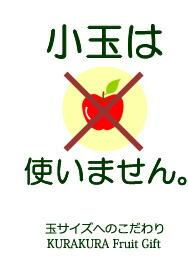 小玉リンゴは使いません