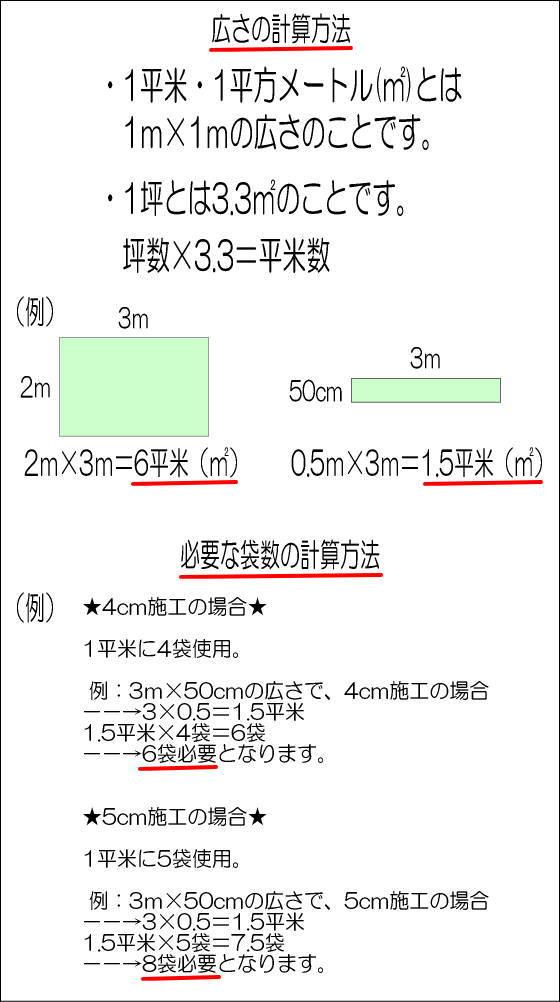 広さの計算方法