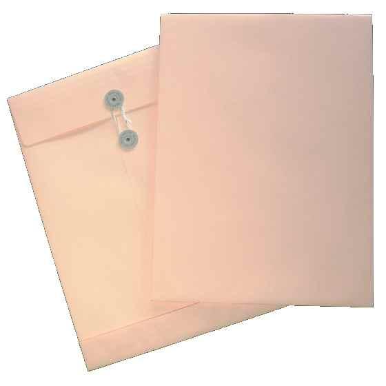保存袋(ボックス)封筒/カラー/ハトメ紐付