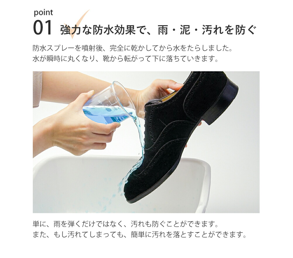 強力に撥水する防水スプレー