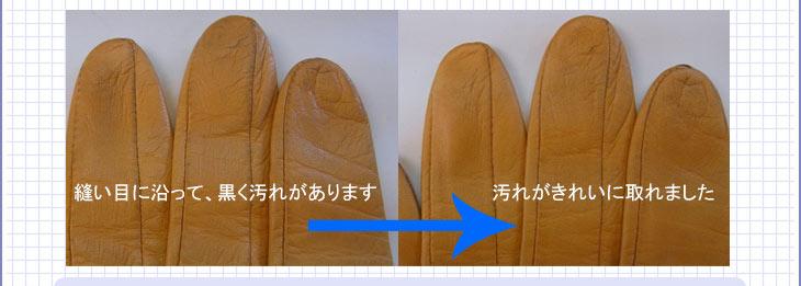 革の手袋の汚れ落とし