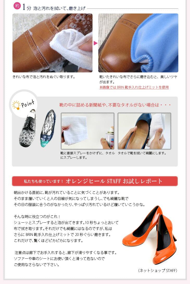 ご使用方法(2分間靴磨き)