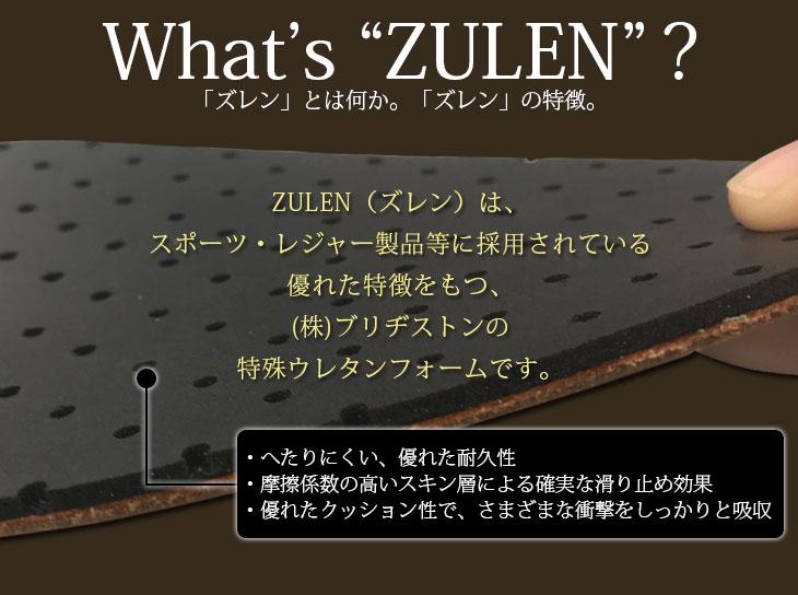 高機能衝撃吸収素材ズレンの特徴