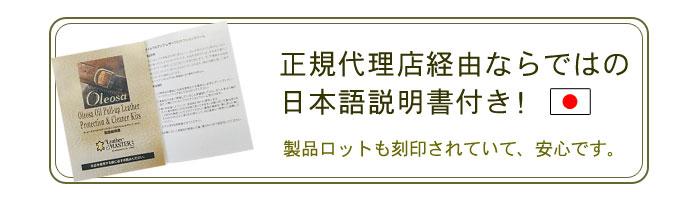 正規代理店経由ならではの日本語説明書付き!製品ロットも刻印されていて安心です