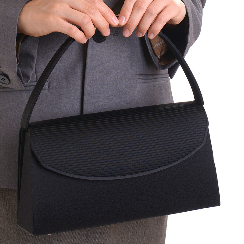 アウローラのおすすめフォーマルバッグ、F1シリーズ日本製ブラックフォーマルバッグ