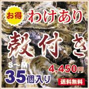 広島産生牡蠣 殻付き 訳あり殻付き 35個入り