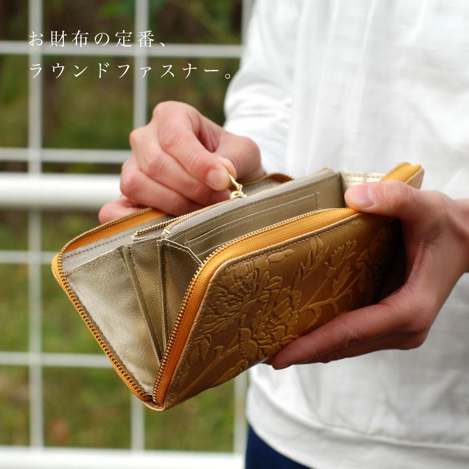 お財布の定番、ラウンドファスナー。