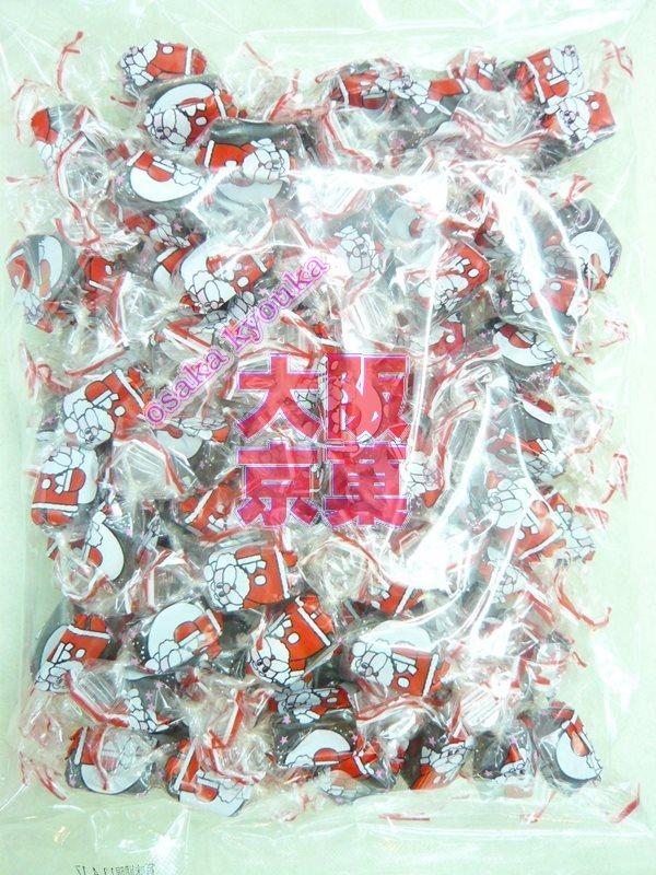 ピュアレ500g入り クリスマスチョコレートサンタクロースひねり