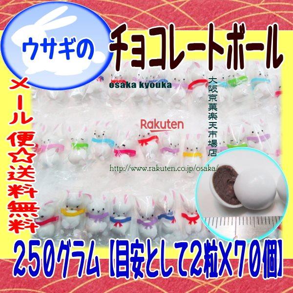 ZRおかし企画 OE石井 250グラム【目安として2粒×70個】 ウサギのチョコレートボール 【チョコ】×1袋 +税 【ma】【メール便送料無料】