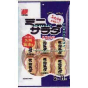 ZRx三幸製菓 2枚x11袋 ミニサラダ九州醤油味×32個 +税 【xw】