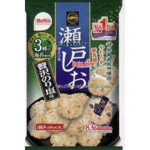 ZRxベフコ栗山米菓 83G 瀬戸の汐揚贅沢のり塩味×12個 +税 【x】