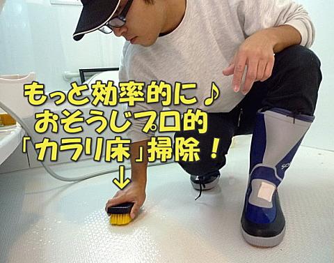 お風呂・浴室のデコボコ床/カラリ床掃除用ハードブラシ