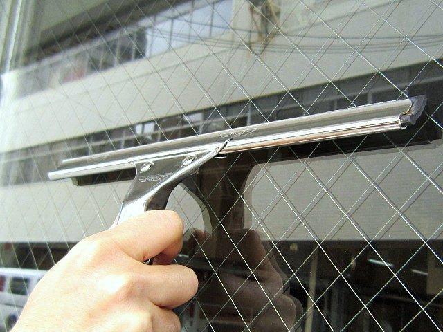 業務用ガラス掃除スクイジー・銀色ステンレスタイプ