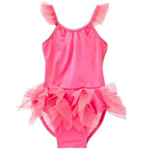 da1247593ddd0 Jinbo Lee /GYMBOREE swimsuit dress type Tulle tutu raffle frill UPF50+ UV  cut high baby, baby kids, child use of the swimsuit swimwear pink woman for  the ...