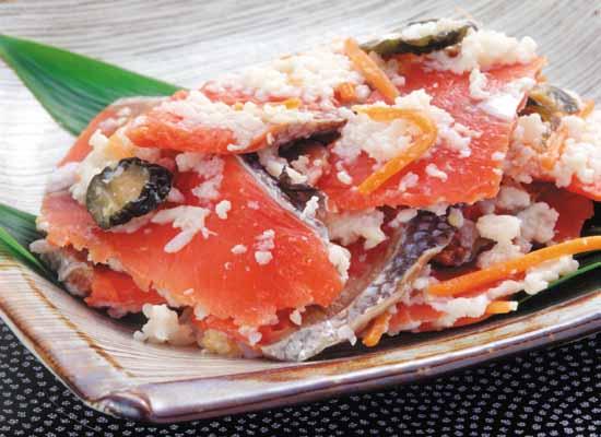 飯寿司・いずし・鮭・紅鮭・おせち