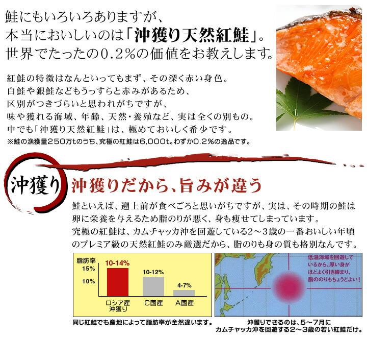 沖獲り天然紅鮭