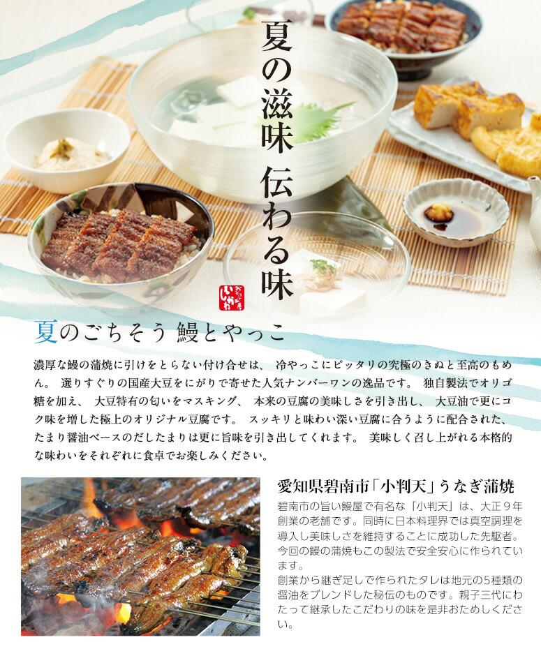 夏の滋味 伝わる味「鰻とやっこ」
