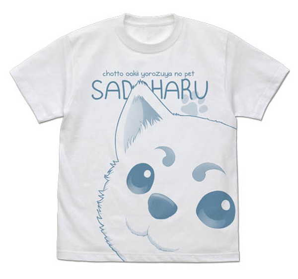 銀魂オールプリントTシャツ定春の鼻デカWHITE-S