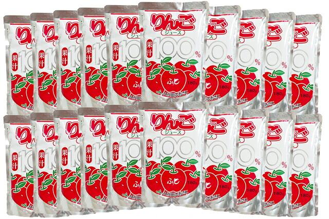 秋田産 りんごジュース フジ果汁100% 20個 箱入り