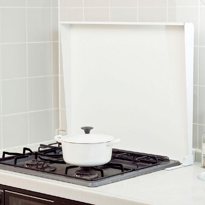 コンロカバー スチール 75cm用 IK2-75W ホワイト システムキッチン用
