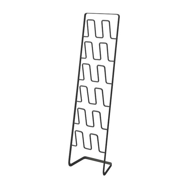 【山崎実業】<br>スリッパラック フレーム 6足用 スリム ブラック 4703