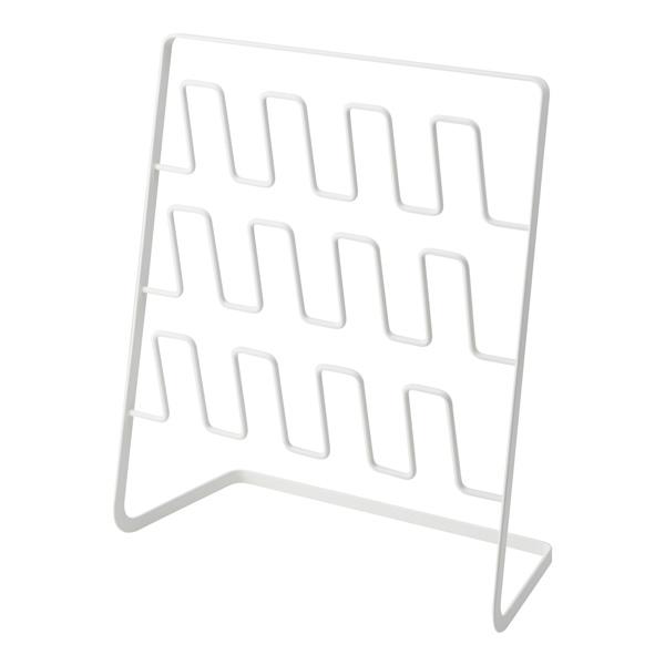 【山崎実業】<br>スリッパラック フレーム 6足用 ワイド ホワイト 4704
