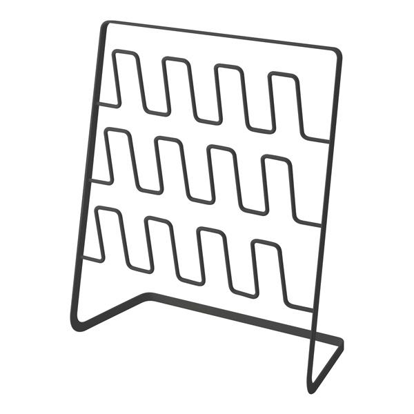 【山崎実業】<br>スリッパラック フレーム 6足用 ワイド ブラック 4705