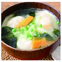 ひと口生水餃子スープ