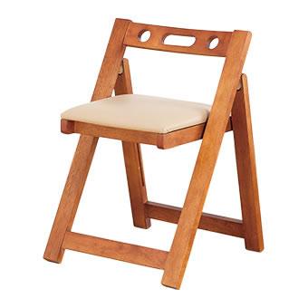天然木折りたたみチェア 完成品 木製 コンパクト チェア 折りたたみ 椅子 いす イス チェア