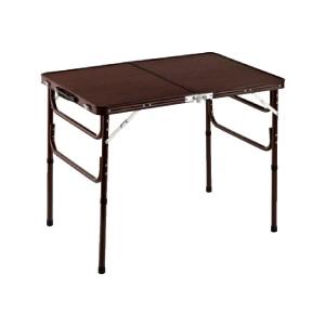 木目調軽量折りたたみテーブル 90cm幅