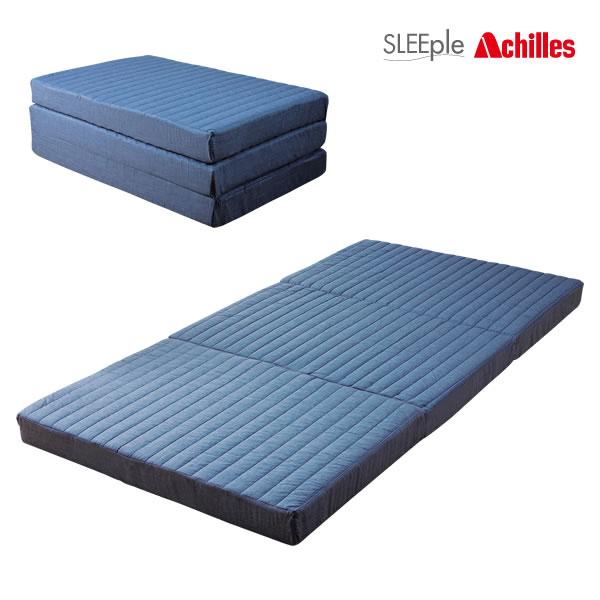 SLEEple/スリープル Achilles/アキレス マットレス プロファイル加工 硬質バランスマットレス 三折れ 10cm厚 シングル 日本製